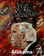 Basketball Abstract Paintings - Bear Bryant and Mal Moore  by Mark Moore