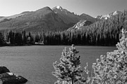 Mountains And Lake Prints - Bear Lake Monochrome Print by Eric Glaser