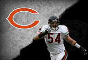 Offense Prints - Bears Brian Urlacher Print by Joe Hamilton