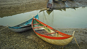 Nature Prints - Beautiful Boats - Ninh Thuan - Vietnam Print by Hoang Tran
