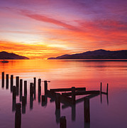 South Island Posters - Beautiful Sunset Poster by Colin and Linda McKie