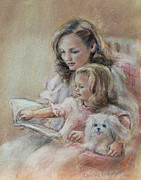 Featured Pastels Metal Prints - Bedtime Story Metal Print by Laurie Shanholtzer