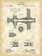 Faucet Posters - Beer Tap Patent Poster by Stephen Younts