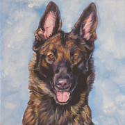 Dog Art Paintings - Belgian Malinois by Lee Ann Shepard