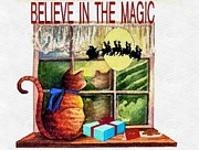 Joseph Frank Baraba Digital Art Prints - Believe In The Magic Print by Joseph Frank Baraba
