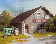 Shed Painting Prints - Bell Buoy Print by Todd Baxter