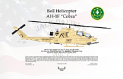 Operation Desert Storm Framed Prints - Bell Helicopter AH-1F Cobra Framed Print by Arthur Eggers