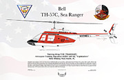 Bell Th-57c Sea Ranger Print by Arthur Eggers