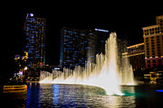 Las Vegas Pyrography Prints - Bellagio Fountain Print by Zachary Cox