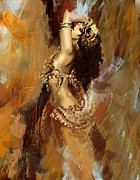 Dancing Posters - Belly Dancer Poster by Corporate Art Task Force