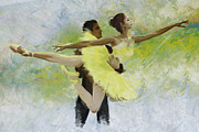 Ballet Art Painting Prints - Belly Dancers Print by Corporate Art Task Force