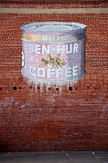Old Signs Prints - Ben Hur Coffee Print by Peter Tellone