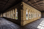 Granite Arches Framed Prints - Benedictine Gothic Cloister Framed Print by Lusoimages