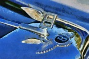 Vintage Hood Ornament Painting Framed Prints - Bentley S1 1956 badge Framed Print by George Atsametakis