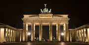 Berlin Art Framed Prints - Berlin Brandenburg Gate Framed Print by Frank Tschakert