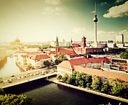 Berlin Germany Prints - Berlin Germany view on major landmarks Print by Michal Bednarek