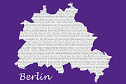 Art Photography Prints - Berlin Map Typgraphy Print by Art Photography