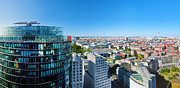 Berlin Germany Prints - Berlin panorama Print by Michal Bednarek