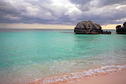 Pink Cloud Posters - Bermuda Pink Sand Beach Poster by Charline Xia