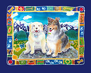 Sheltie Framed Prints - Best Friends Forever Framed Print by Harriet Peck Taylor