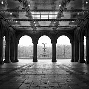 Union Terrace Framed Prints - Bethesda Terrace Framed Print by Randy Lemoine