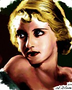 Movie Star Paintings - Bette Davis by Allen Glass