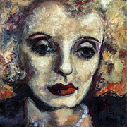 Movie Stars Paintings - Bette Davis  by Ginette Callaway