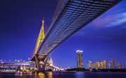 Mega Prints - Bhumibol Bridge in Thailand  Print by Anek Suwannaphoom