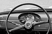 Steering Framed Prints - Bianchina Steering Wheel Framed Print by Jill Reger