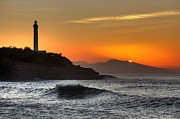 Sunset Prints - Biarritz Print by Karim SAARI