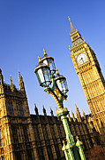 Streetlight Photos - Big Ben and Palace of Westminster by Elena Elisseeva