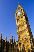 Clock Tower Photos - Big Ben clock tower by Elena Elisseeva