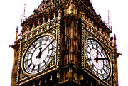 Clockfaces Prints - Big Ben Clockfaces Print by Robert  Rodvik