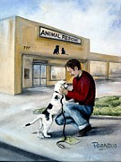 Animal Shelter Art - Big Day for Lucky by Beverly Pegasus