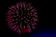 Blue Fireworks Prints - Big Red Print by Robert Bales