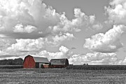 Ohio Red Prints - Big Sky Print by Robert Harmon