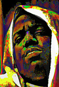 Orange Digital Art Originals - Biggie Smalls by Byron Fli Walker