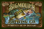 Jon Q Wright Framed Prints - Bigmouth Brewing Framed Print by JQ Licensing