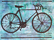 Linoluem Drawings - Bike 8 by William Cauthern