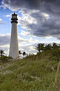 Miami Pyrography Prints - Bill Baggs Lighthouse Print by Eyzen Medina
