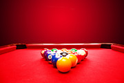 Sport Bar Framed Prints - Billards pool game Framed Print by Michal Bednarek