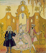 Fame Painting Framed Prints - Billet Doux  Framed Print by Georges Barbier