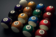 Billiard Digital Art Acrylic Prints - Billiard Balls Acrylic Print by NicoWriter