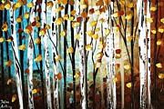 Jolina Anthony Prints - Birch garden  Print by Jolina Anthony