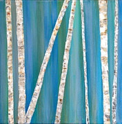 JC Nemish - Birch Trees at Dusk