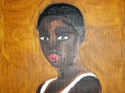 Etc. Painting Metal Prints - Black African American Woman of 2013 Metal Print by William Sahir House