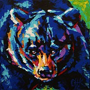 Christine Karron Metal Prints - Black Bear Metal Print by Christine Karron