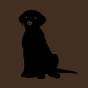 Labrador Retriever Digital Art - Black Labrador by Elizabeth Harshman