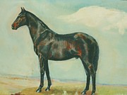 Thoroughbred Mixed Media - Black Stallion by Elizabeth Kilpatrick