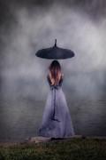 Black Umbrella Print by Joana Kruse